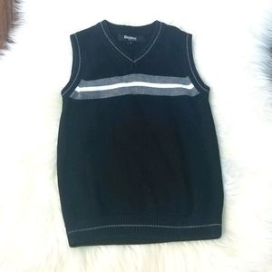 Eleganza Black White Boys Knitted Vest Sleeveless